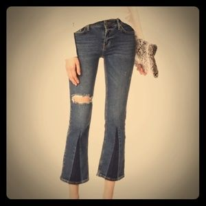Free People vintage wash California cropped jeans
